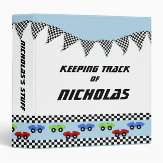 Race Car Baby Book Binder