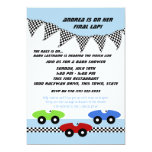 Race Car Baby Shower 5x7 Paper Invitation Card
