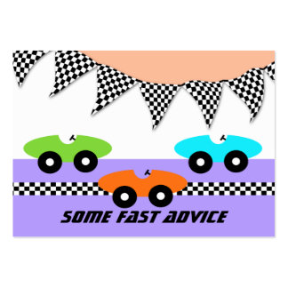 Race Car Baby Shower Advice Cards Business Cards