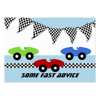 Race Car Baby Shower Advice Cards Business Card Template