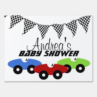 Race Car Baby Shower Yard Sign