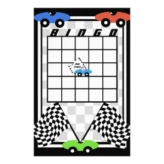 Race Car Bingo Stationery Paper