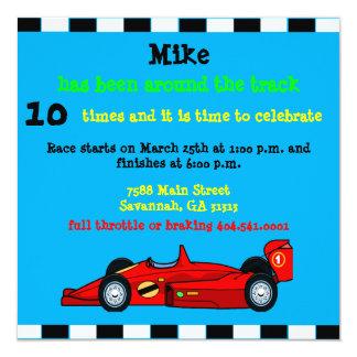 Race Car Birthday Announcement