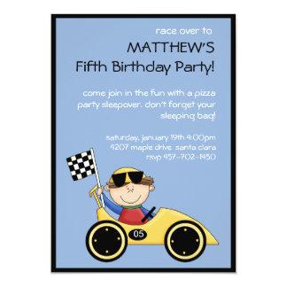 "Race Car Birthday Invitation 5"" X 7"" Invitation Card"