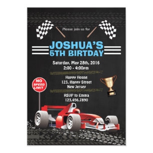 Race Car Birthday Invitations Zazzle