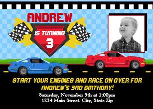 race car birthday invitations zazzle