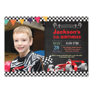 race car invitations zazzle