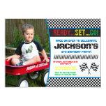 Hand shaped Race Car Birthday Invitation | Racing Invitation