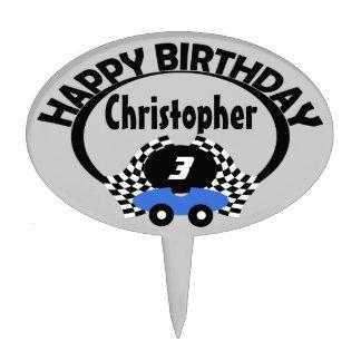 Race Car Birthday Name Cake Topper