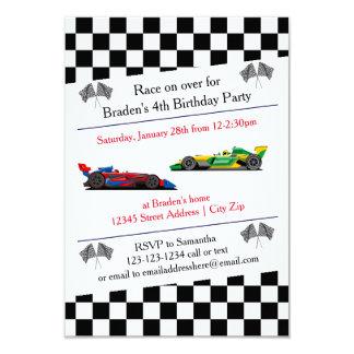 race car invitations  announcements  zazzle, Birthday invitations