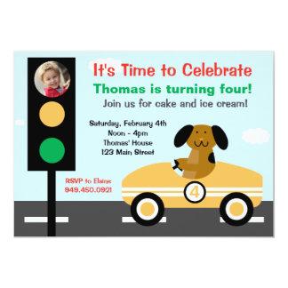 "Race Car Birthday Party Invitation 5"" X 7"" Invitation Card"