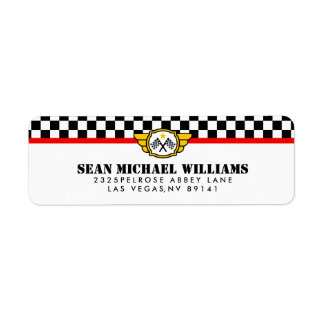 Race Car Birthday Party Label