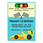 Race Car Birthday Party Personalized Invite