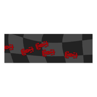Race Car Bookmark Business Cards