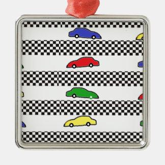 race car colorful ornament
