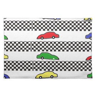 race car colorful placemat
