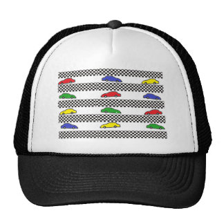 race car colorful trucker hat