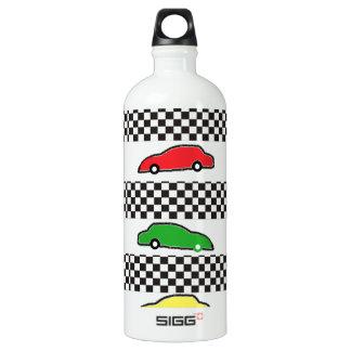 race car colorful water bottle