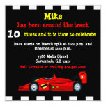 Race Car Custom Invitations