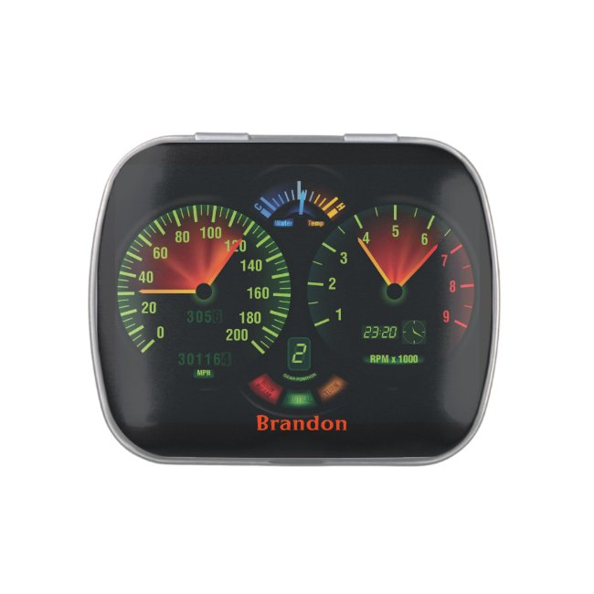 Race Car Dashboard Design Party Favor