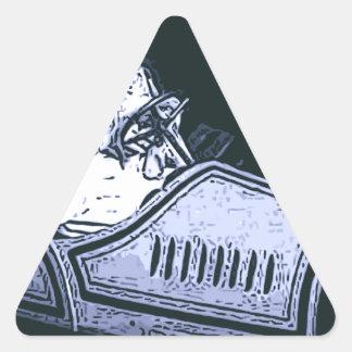 Race Car Dreams Triangle Sticker