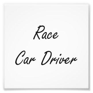 Race Car Driver Artistic Job Design Photo Print