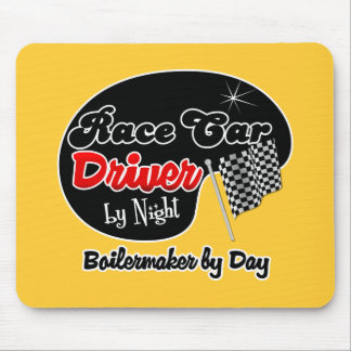 Race Car Driver by Night Boilermaker by Day Mouse Pad