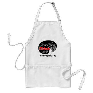 Race Car Driver by Night Cardiologist by Day Adult Apron