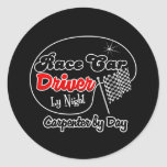 Race Car Driver by Night Carpenter by Day Sticker