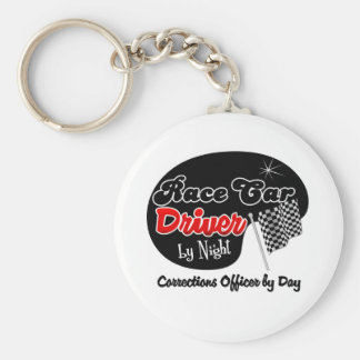 Race Car Driver by Night Corrections Officer by Da Key Chains
