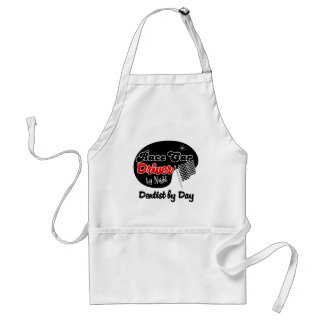 Race Car Driver by Night Dentist by Day Adult Apron