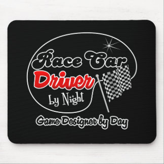 Race Car Driver by Night Game Designer by Day Mouse Pad