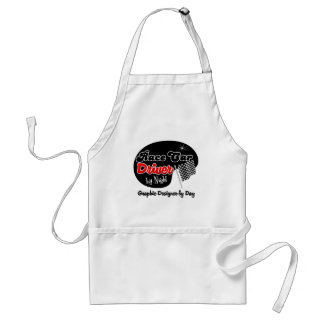 Race Car Driver by Night Graphic Designer by Day Adult Apron