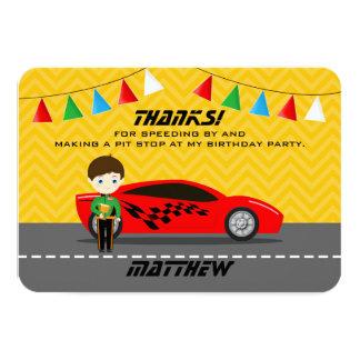 Race Car Driver Card