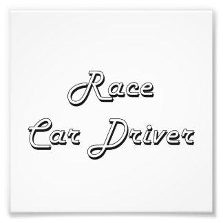 Race Car Driver Classic Job Design Photo Print