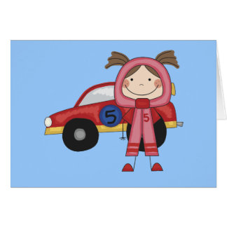 Race Car - Girl T-shirts and Gifts Card
