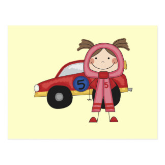 Race Car - Girl T-shirts and Gifts Postcard