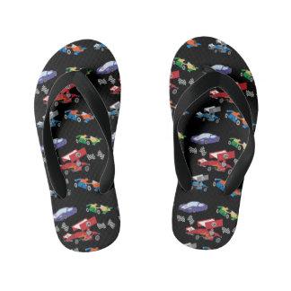 Race Car Kid's Flip Flops