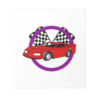Race Car Logo Notepad
