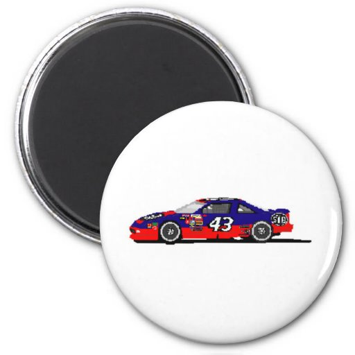 Race Car Refrigerator Magnet
