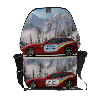 Race car Messenger Bag