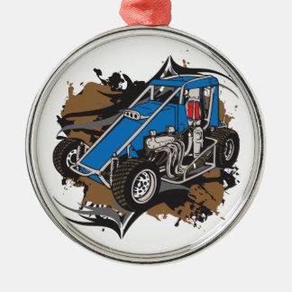 Race Car Metal Ornament