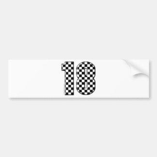 race car number 18 bumper sticker