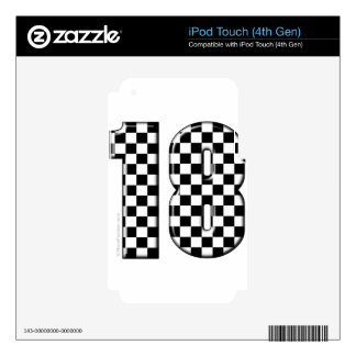 race car number 18 iPod touch 4G skin