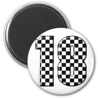 race car number 18 magnet
