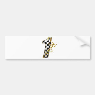 race car number 1 bumper sticker
