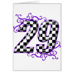Race car number 29 greeting card
