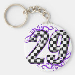 Race car number 29 keychain
