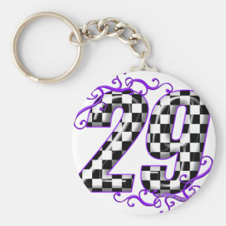 Race car number 29 keychain