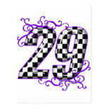 Race car number 29 post cards